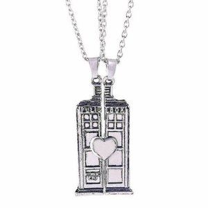 TARDIS Necklace Set Couple Best Friends Doctor Who